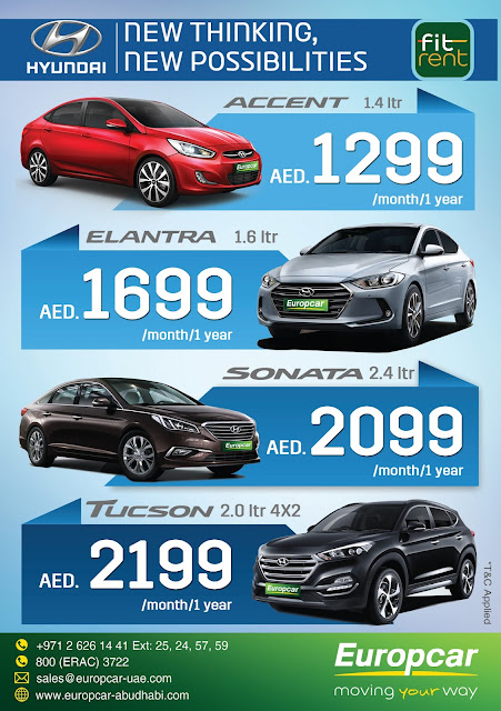Europcar Abu Dhabi New Thinking New Possibilities Lease Hyundai