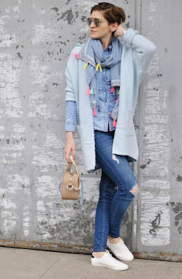 my-bag, Novamoda streetstyle, novamoda stylizacje, wiosenne dodatki, szal z frędzlami, poznań streetstyle