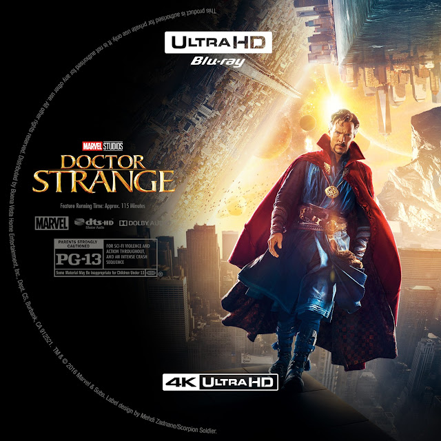 Doctor Strange 4k Bluray Label