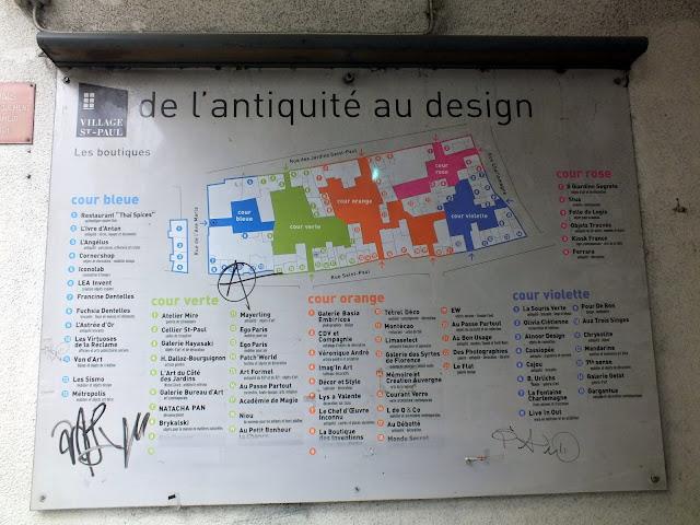 Mapa village Saint Paul, París