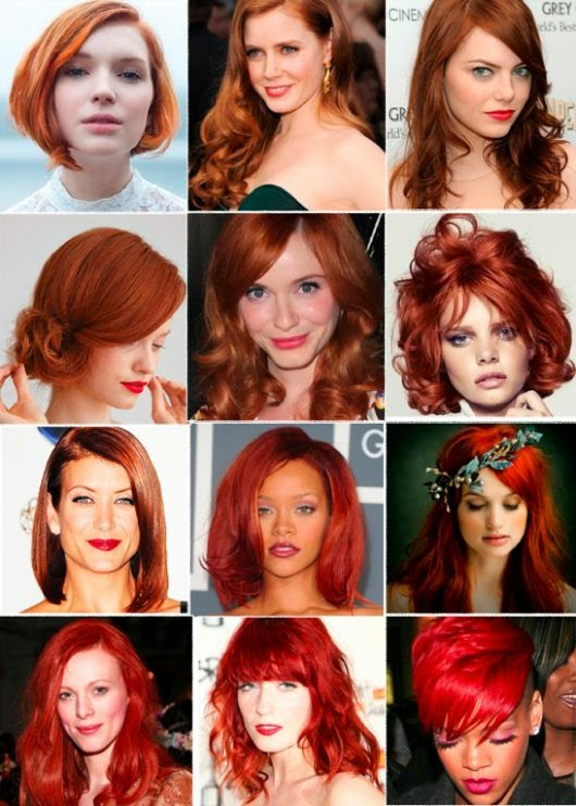 I wish I had a job that would allow me to have one of these hair colors! inspiration board ~ post on red haired bridal beauty  See more http://www.womensandmenshairstyle.net/