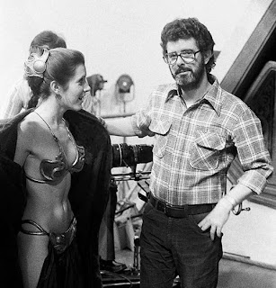 carrie fisher exposing herself to george lucas!