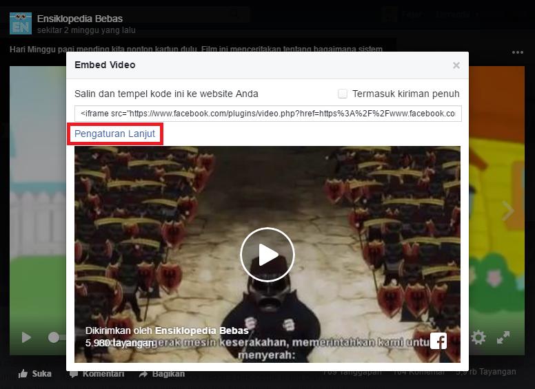 Embed (Benamkan) Video di Facebook