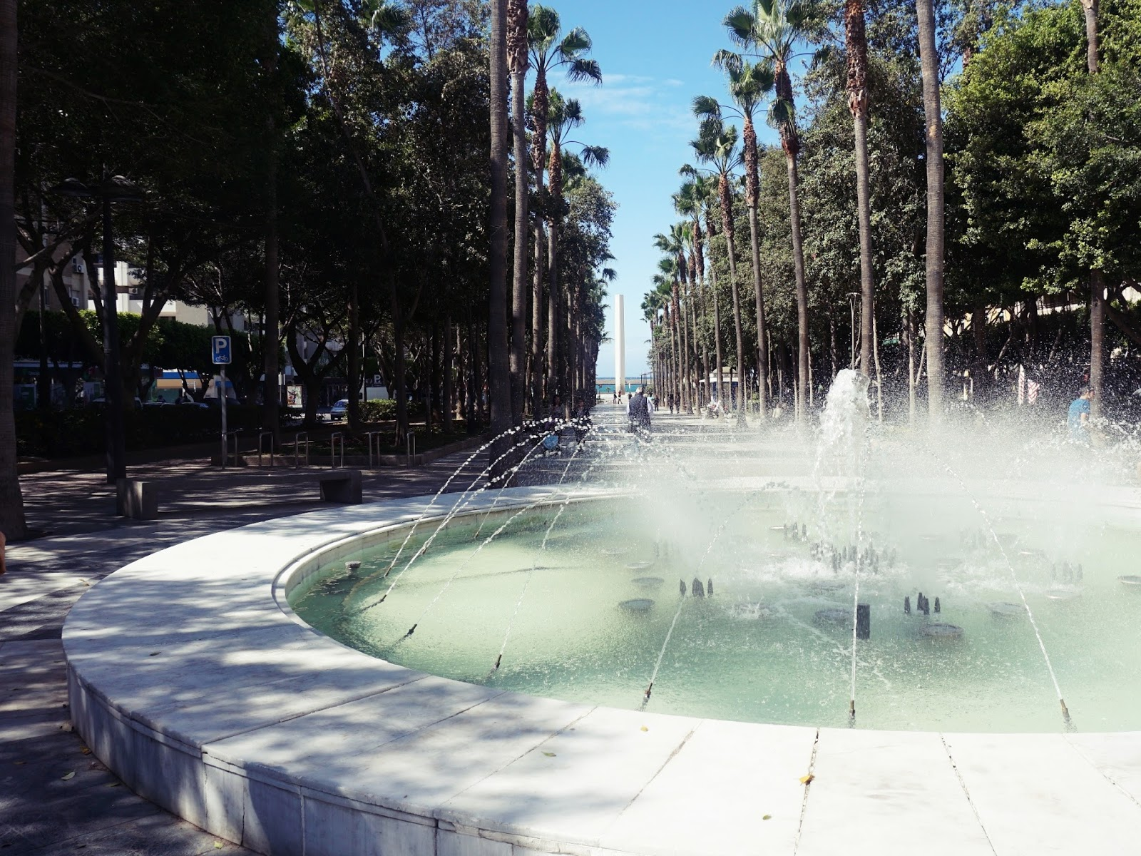 hiszpańskie miasto, Almeria, panidorcia, blog, Hiszpania, podróże, fontanna