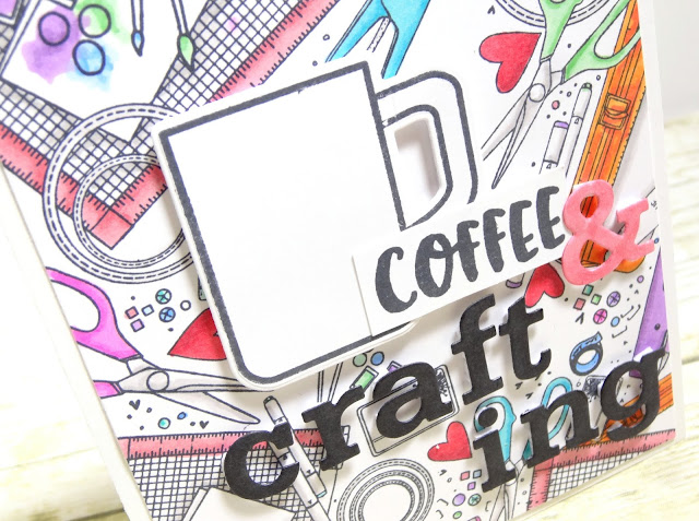 Dana Warren - Kraft Paper Stamps - Unity Stamp Co Spectrum Noir Markers