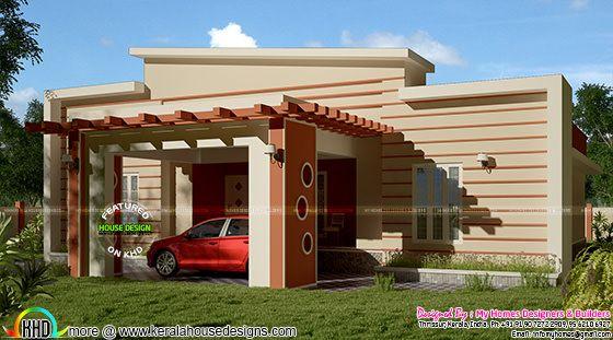1800 square feet modern single floor house