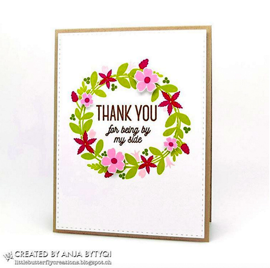 Lisa Johnson Designs Spring Wreath stamp set and Die-namics - Anja Bytyqi #mftstamps