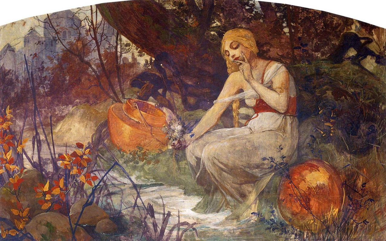 Prophetess by Alphonse Mucha