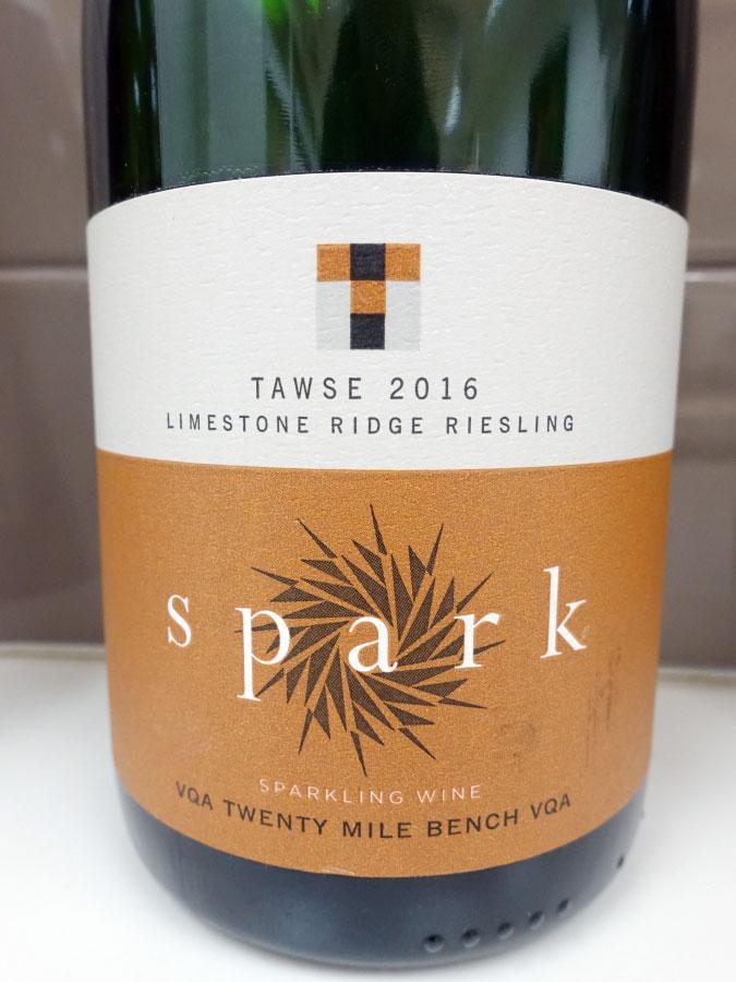 Tawse Spark Limestone Ridge Organic Sparkling Riesling 2016 (89 pts)