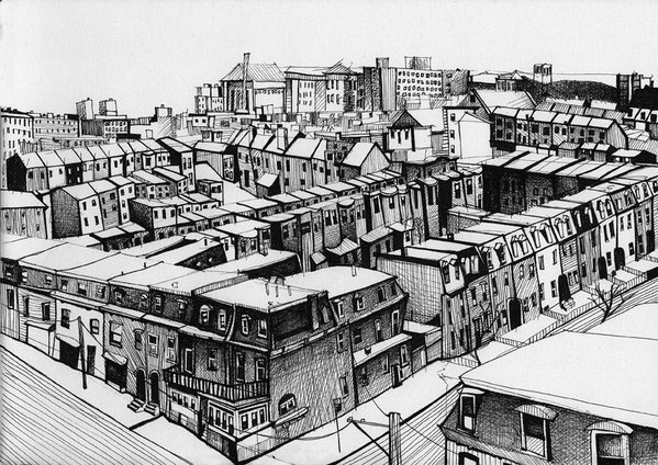 14-Gregor-Louden-Architectural-Drawings-of-our-Streets-www-designstack-co