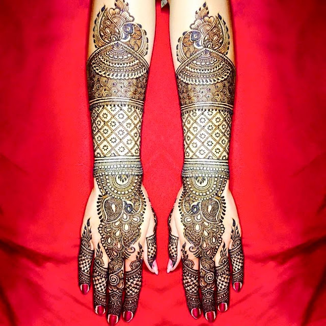 Indian Mehndi For Bridal Ad Dulhan