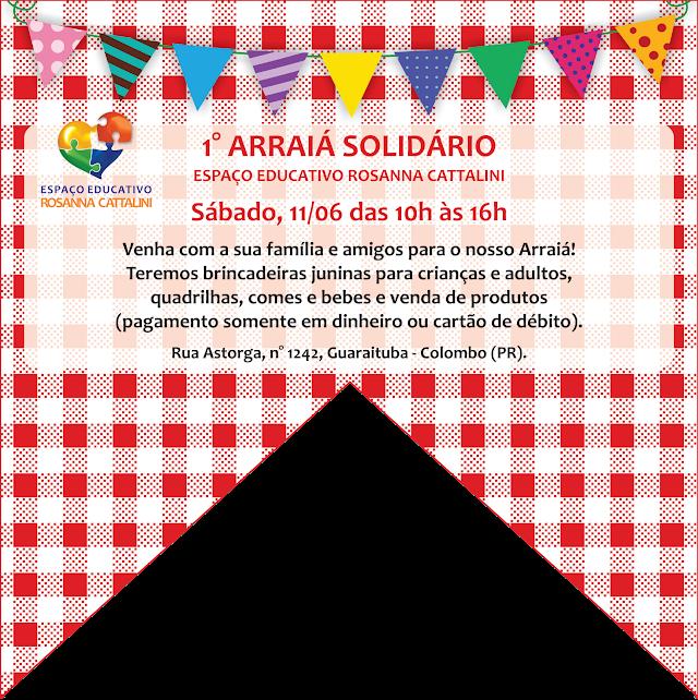 1º Arraia Solidário em Colombo acontece neste sábado, 11