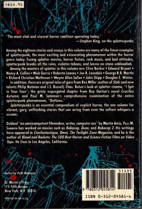 79f656290 No, these young writers wanted to fuse extreme violence and horror (the