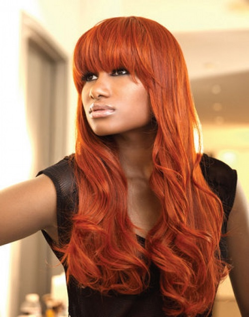 Orange Hair Color For Black Women