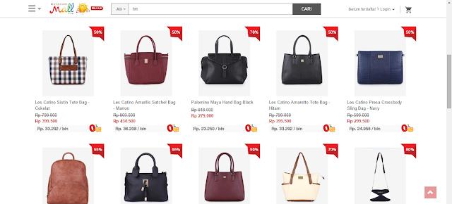 Pilihan tas wanita di MatahariMall.com