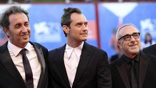 Jude Law, Paolo Sorremtino y Silvio Orlando