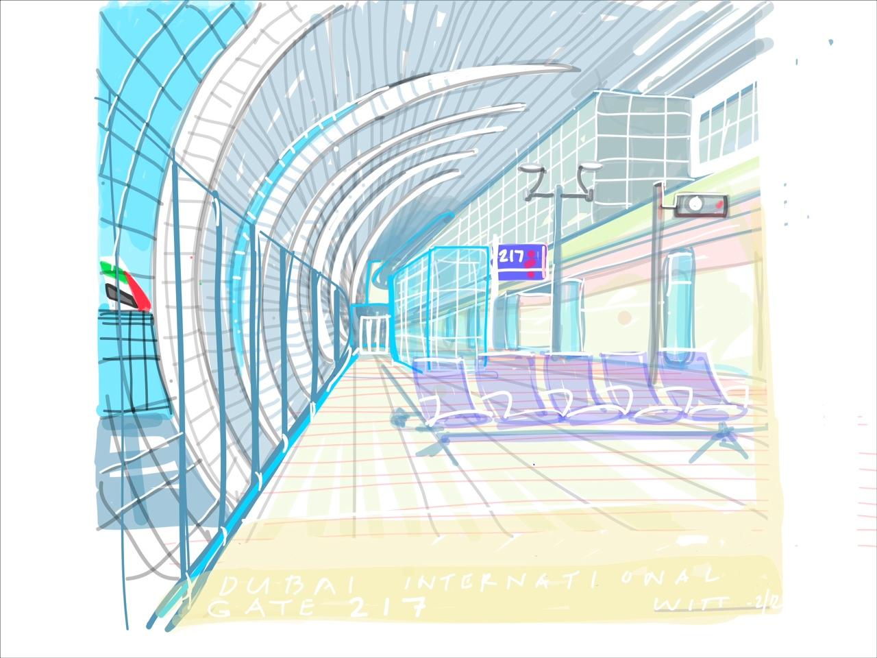 Drawing On The World Dubai International Airport