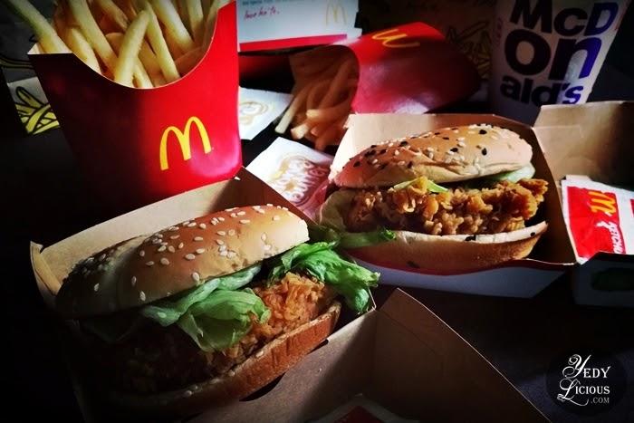 McSpicy Original and Garlic Parmesan McSpicy, McSpicy is back at McDonald's. McDo McSpicy Blog Review, McDonald's Philippines YedyLicious Manila Food Blog