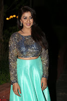 Nikki Galrani in Green Skirt  Top at Marakathamani music launch ~  Exclusive (101).JPG