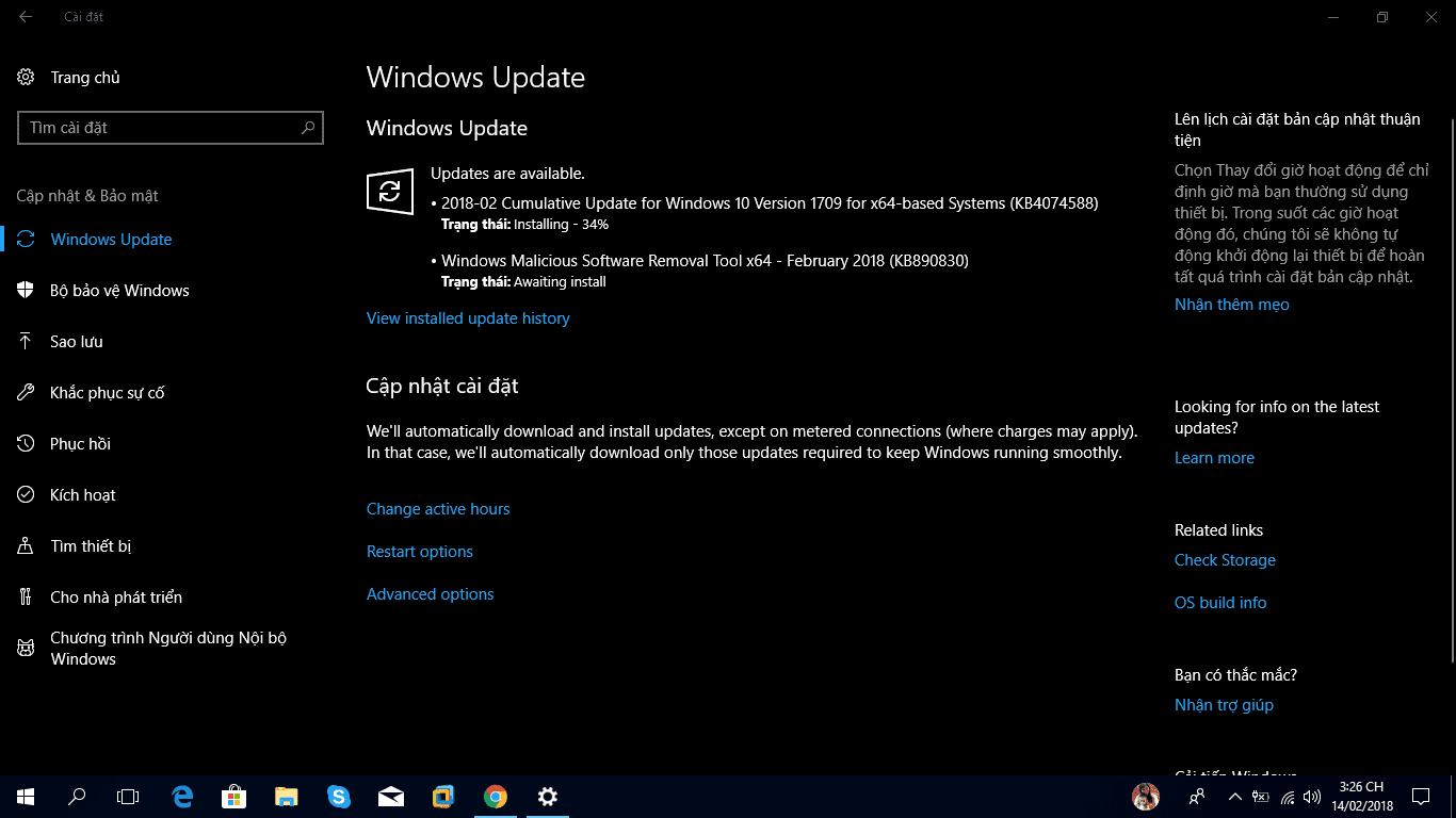 Cumulative Update KB4074588 for Windows 10 Version 1709 (OS Build 16299.248)