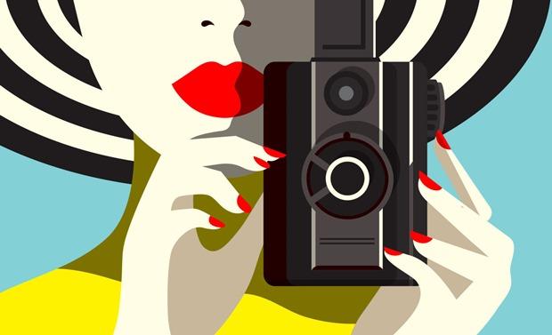 Malika Favre, ilustração minimalista, minimalismo, design retrô, ilustração retrô