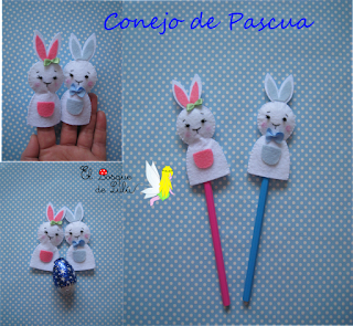 conejo-Pascua-elbosquedelulu-fieltro-finger-poppets-marioneta-dedo-huevo-chocolate-Semana-Santa-felt-feltro-fieltro