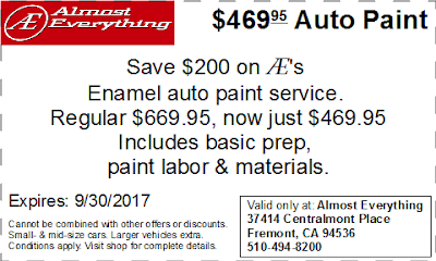 Coupon $469.95 Auto Paint Sale September 2017