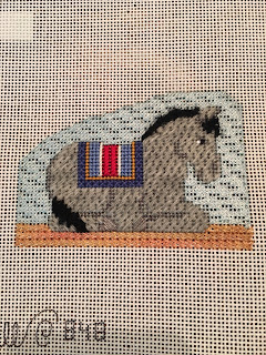 carol dupree needlepoint nativity donkey