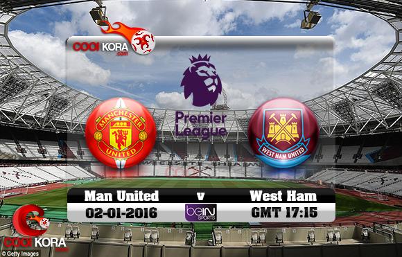 مشاهدة مباراة وست هام ومانشستر يونايتد اليوم 2-11-2017 في الدوري الإنجليزي