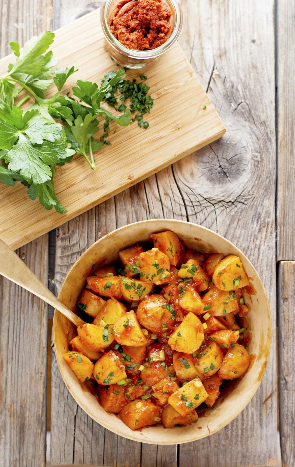 Lemony Harissa Potato Salad