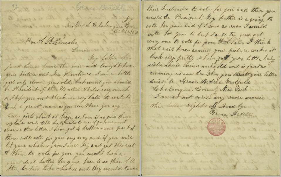 abraham lincoln s letter to a abraham lincoln s beard 767