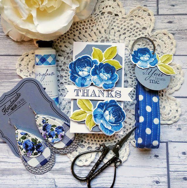 Sunny Studio Stamps: Everything's Rosy Thank You Customer Card by Kelly Lunceford