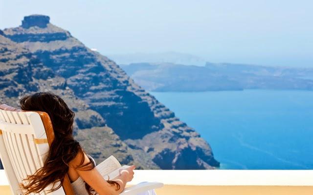 Santorini girl devushka