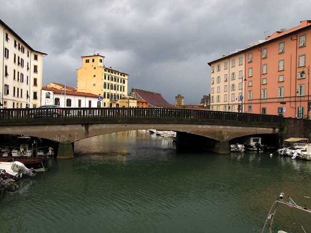 Ponte della Venezia seen from the scali del Ponte di Marmo, Livorno