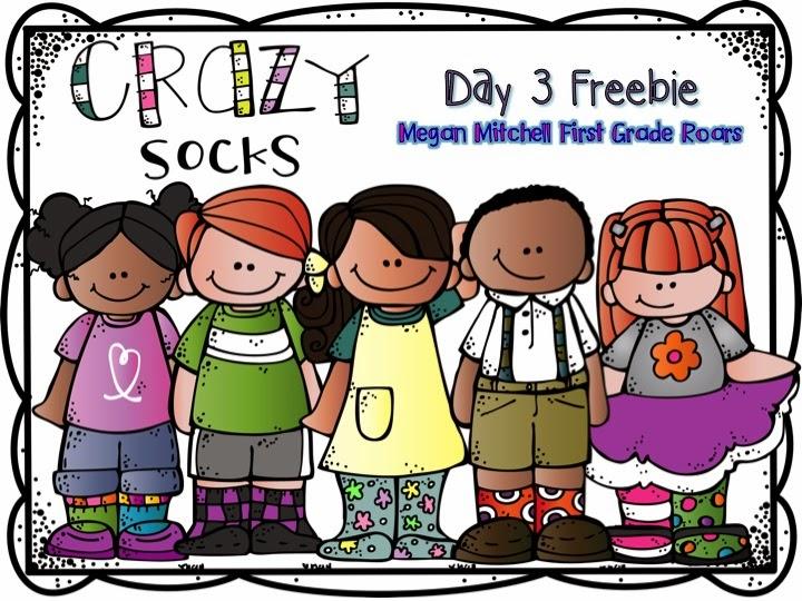 Crazy Sock Day Freebie! - First Grade Roars!