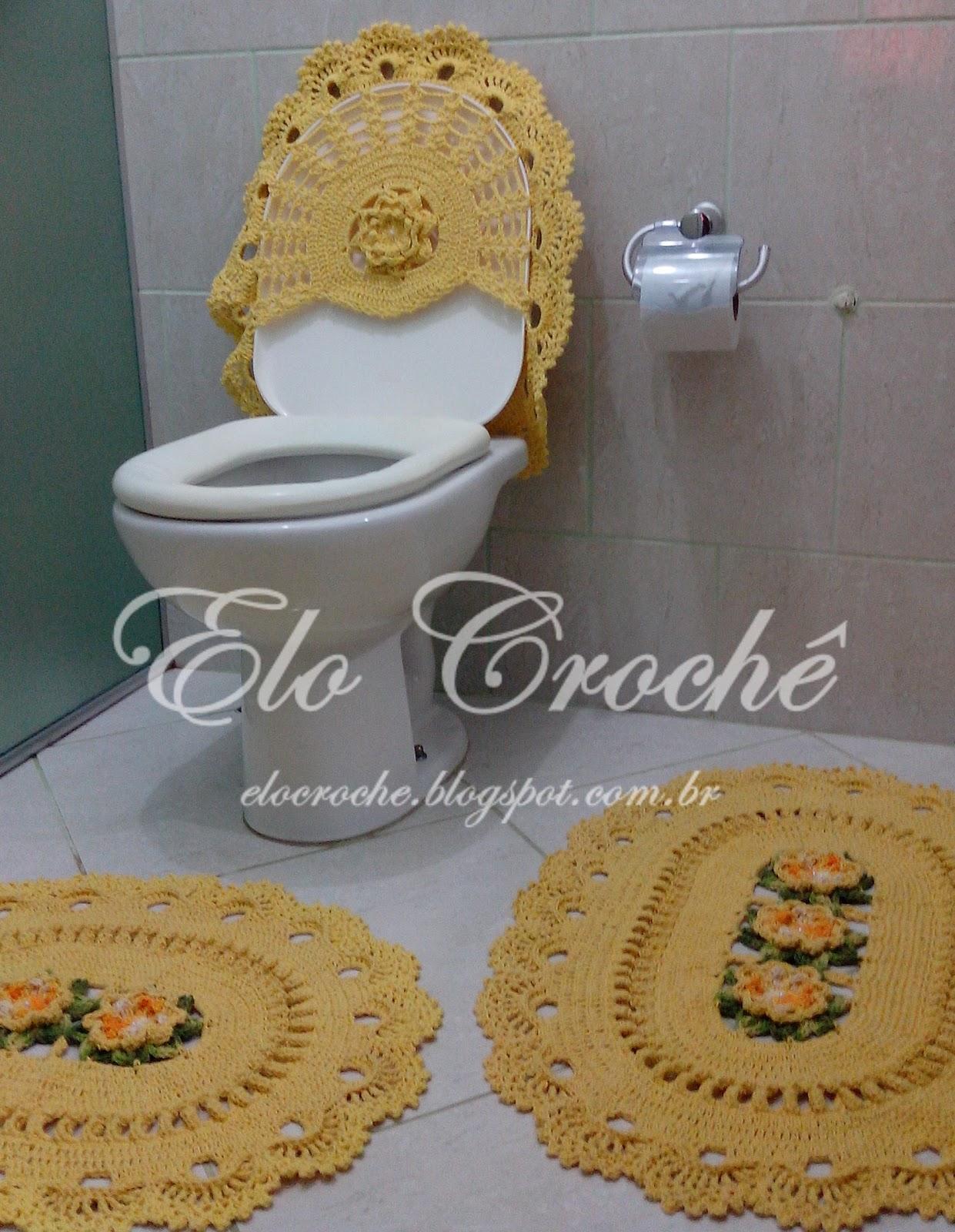 Elo Crochê by Eloiza Castro: JOGO DE BANHEIRO DE CROCHÊ LUXO  #66492A 1241 1600