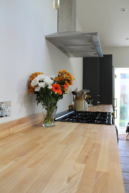 Kitchen worktops made from ash