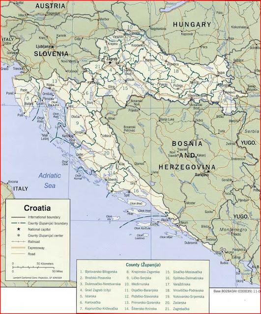 image: Croatia political Map