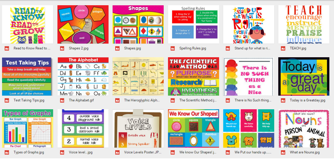 Deped Standard Classroom Design ~ Printable display materials classroom charts posters