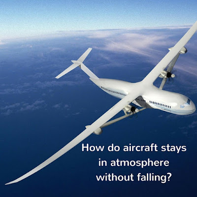 How do aeroplane stays in atmosphere without falling?