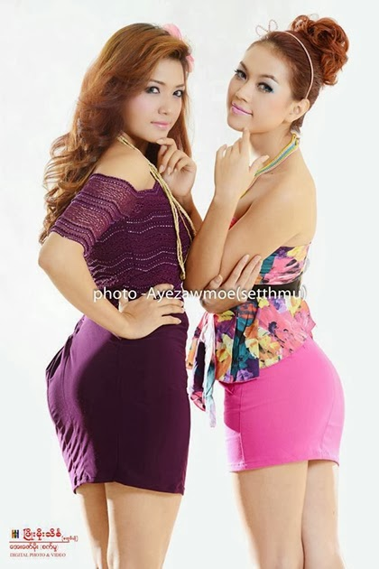 Marina and Khin Thazin - Myanmar Model