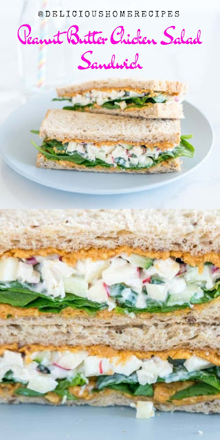 Peanut Butter Chicken Salad Sandwich #christmas #lunch #chicken #Sandwich