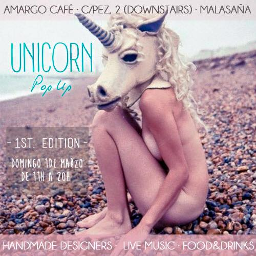 Cartel de Unicorn Pop Up