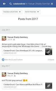 Cara Melakukan Pencarian di Dalam Profile, Group, atau Page Facebook Tanpa PC