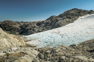 Looking north to the Big Interior Glacier