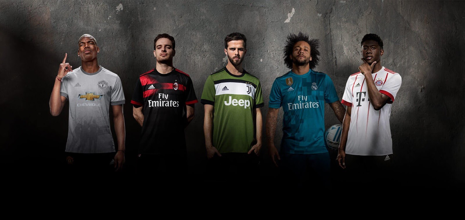 Adidas Real Madrid, Man Utd, Bayern, Flamengo, Milan ...
