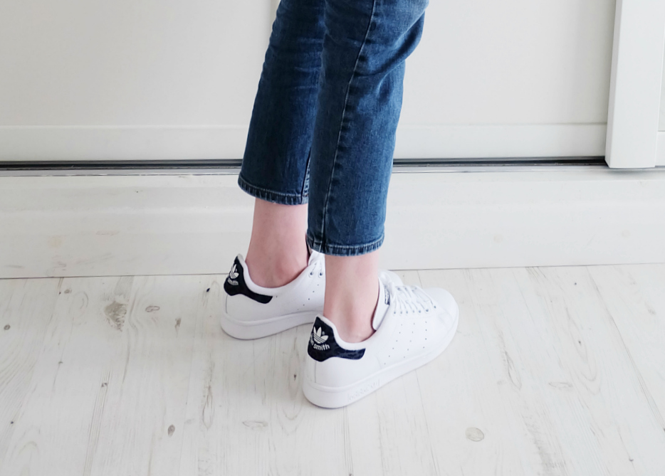 Topshop Baxter Jeans review, adidas stan smith  white and indigo trainers