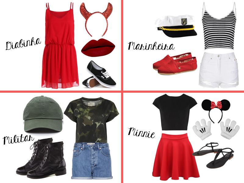 Fantasia improvisada, militar, Minnie, Marinheiro, Diabinho, look de carnaval, fashion, moda, estilo