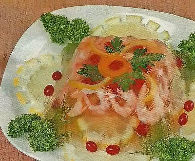 Необходимые продукты для приготовления заливных креветок