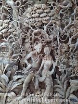 Ukiran Relief Rama dan Shinta Ramayana